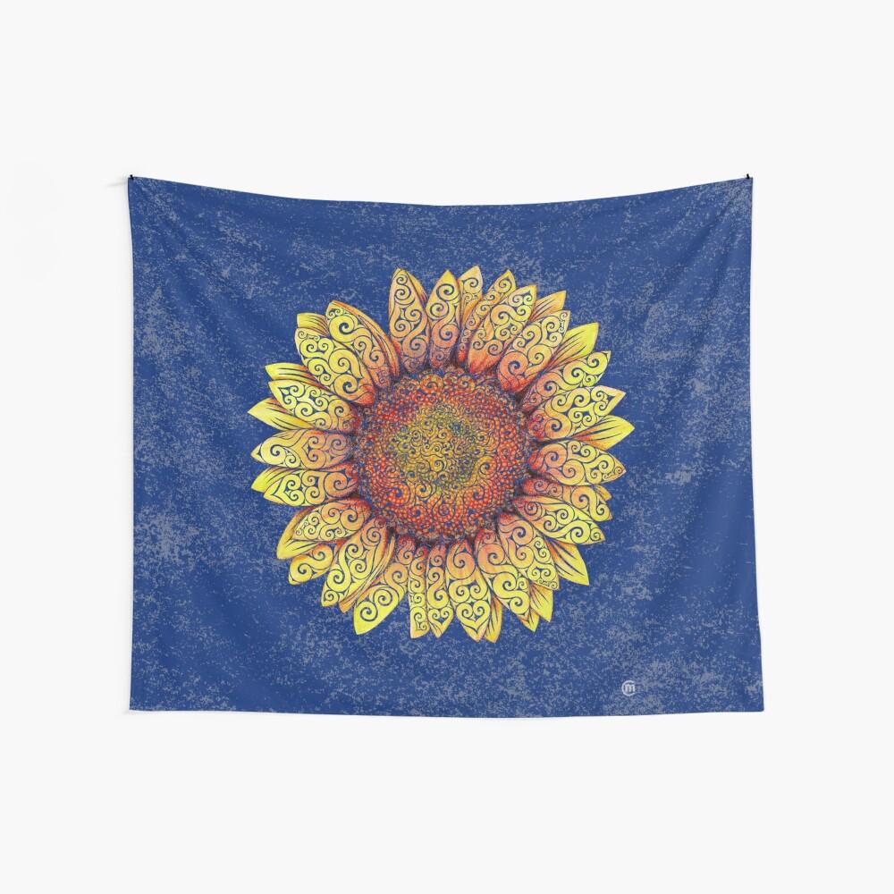 Swirly Sunflower Wall Tapestry