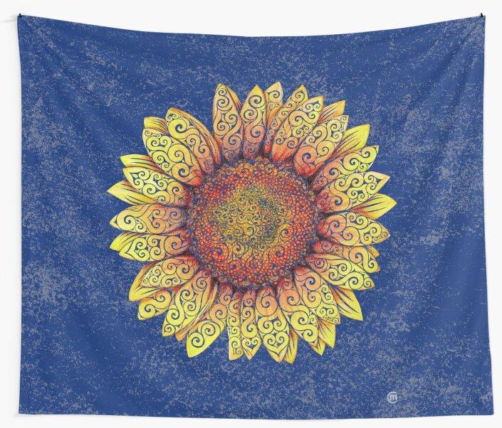 Swirly Sunflower by . VectorInk