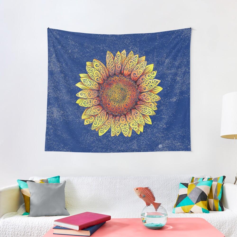 Swirly Sunflower Tapestry