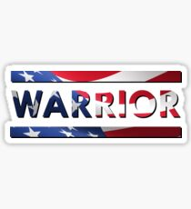 Warrior - American Flag (USA) Sticker