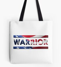 Warrior - American Flag (USA) Tote Bag