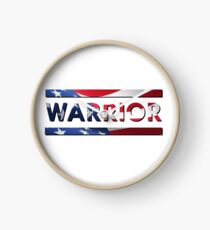 Warrior - American Flag (USA) Clock