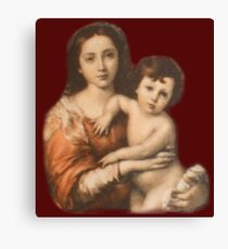 JESUS, Christ, Madonna and Child, Protection, Religion, Biblical, Miracle, Religious Icon Canvas Print