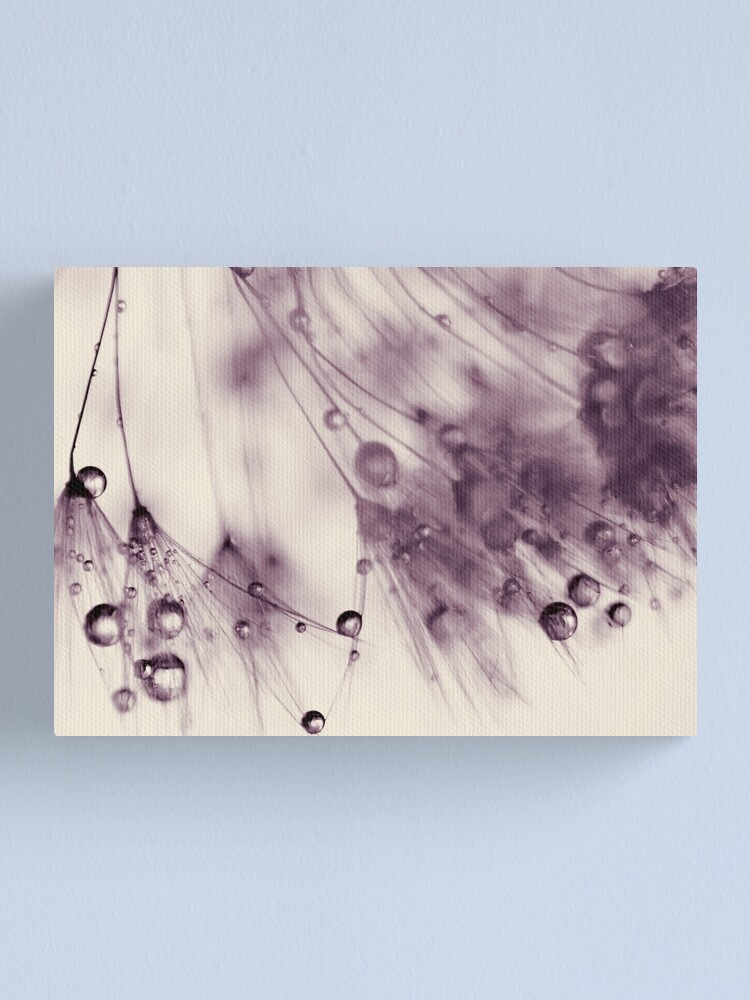 Alternate view of droplets of aubergine Canvas Print
