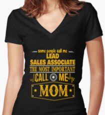 LEAD SALES ASSOCIATE BEST COLLECTION 2017 Women's Fitted V-Neck T-Shirt