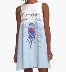 Portuguese Man O' War Is Actually 4 Animals In A Very Progressive Relationship A-Line Dress
