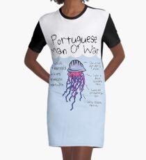 Portugiesischer Mann O 'War ist eigentlich 4 Tiere in einer sehr progressiven Beziehung T-Shirt Kleid