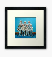 1959: Astronaut Frog's Space Race Framed Print