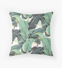 Banana leaves pattern Blanche Devereaux style Throw Pillow