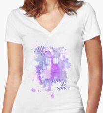 All of Time & Space Women's Fitted V-Neck T-Shirt