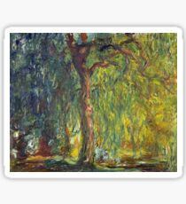 Claude Monet - Weeping Willow  Sticker