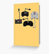 Pixel History - Sega Controllers Greeting Card