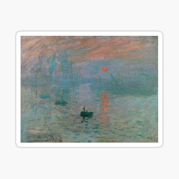 Monet - Impression, Sunrise, 1872 Sticker