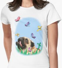 A city dog's dreams Womens Fitted T-Shirt