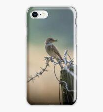 Bird and barbwire  iPhone Case/Skin