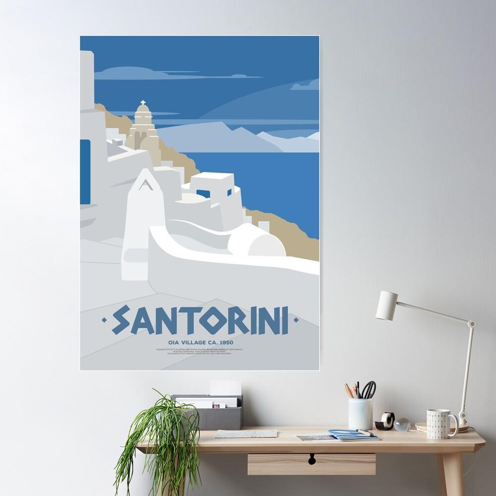 Oia village in Santorini (GR) Poster
