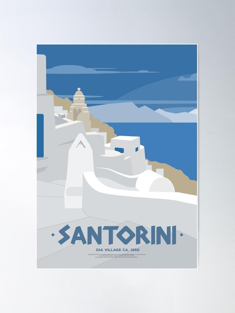 Alternate view of Oia village in Santorini (GR) Poster