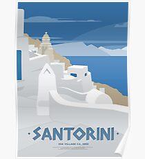 Oia Dorf in Santorin (GR) Poster
