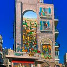 Mural on an Apartment building in Jerusalem by Eyal Nahmias