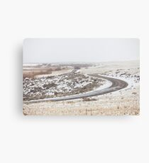 Winter road in Antilope island Canvas Print