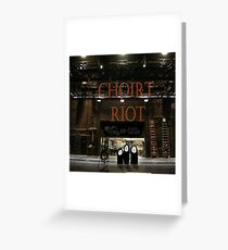 Part 12.2 CHIORT RIOT The album has been released Greeting Card