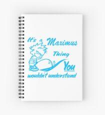 Name shirt custom design for - Maximus Spiral Notebook