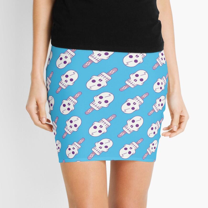 Skull Pop - Pattern Mini Skirt