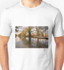 Trees Beside The Wintry Rolleston Pond T-Shirt