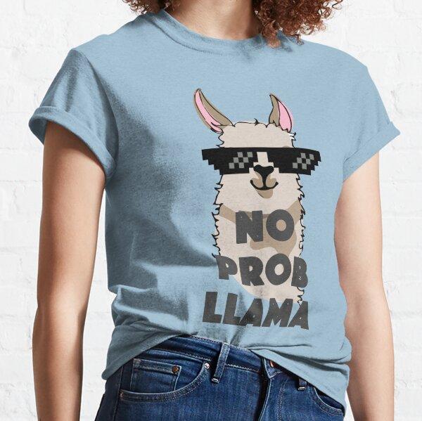 Llama Lovers Shirt Gift Mens T-Shirt Test Day No Prob Llama Math Funny No ProbLlama Shirt