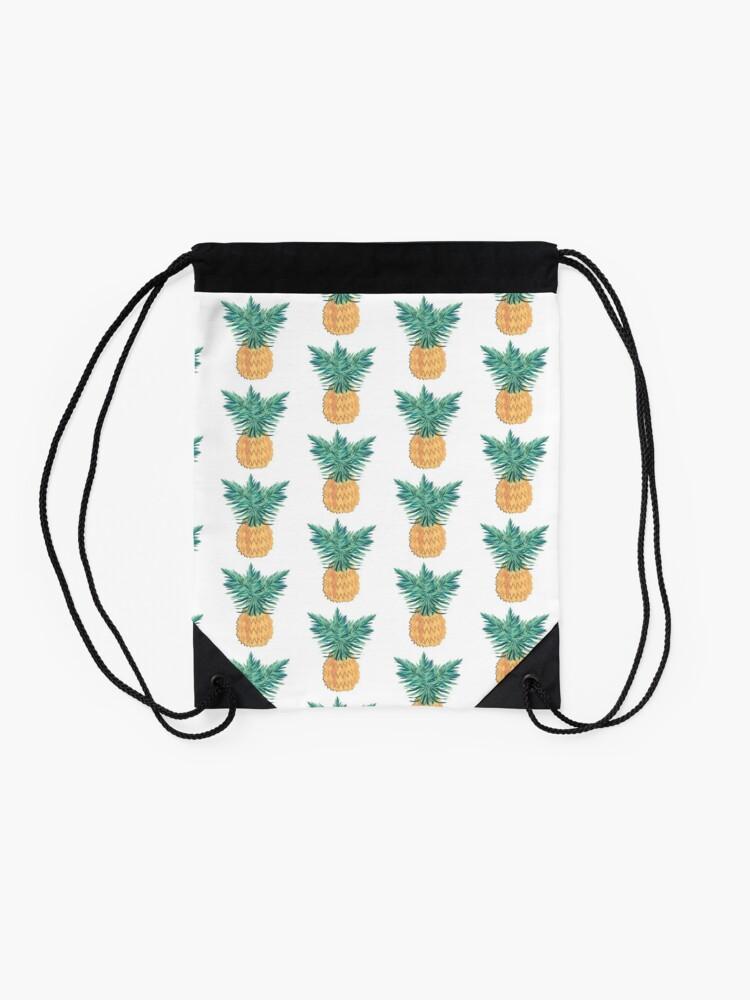 Alternate view of Pineapple Drawstring Bag