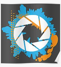 Portal - Abstract Aperture Logo Poster