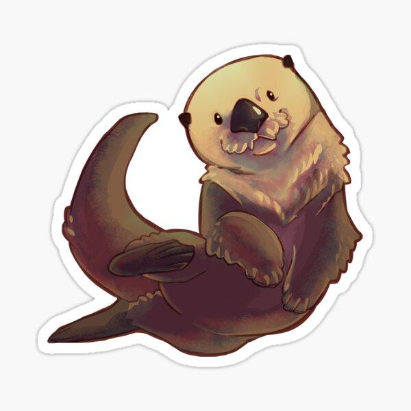 Swimming otter Sticker