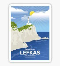 Lefkada, Lighthouse at Cape Ducato (GR) Sticker