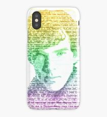 Sherlock Quote Rainbow iPhone Case