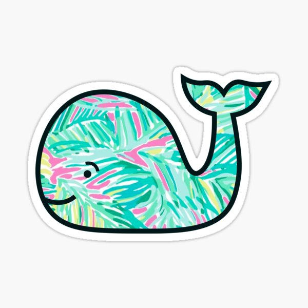 Tropical Whale Sticker