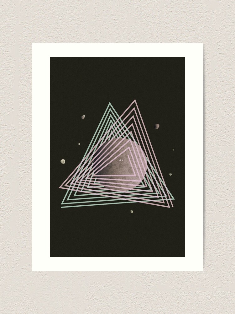 Alternate view of Ceres abstract space Art Print