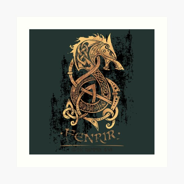 Fenrir: The Nordic Monster Wolf Art Print