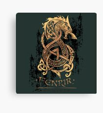 Fenrir: The Nordic Monster Wolf Canvas Print