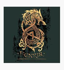 Fenrir: The Nordic Monster Wolf Photographic Print