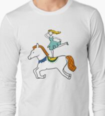Retro Circus with Strong Man, Seals, Horse Rider and Clowns T-Shirt