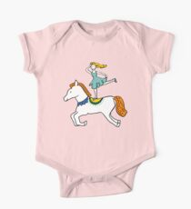 Retro Circus with Strong Man, Seals, Horse Rider and Clowns Kids Clothes