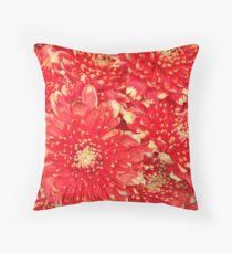 Red Bouquet Throw Pillow