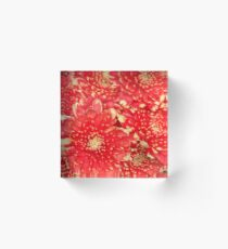 Red Bouquet Acrylic Block