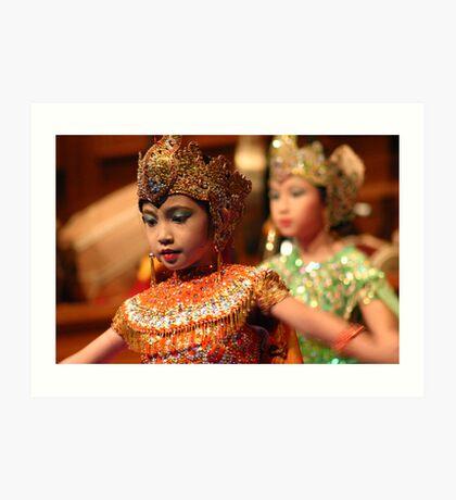 Children's 'Peacock Dance' - Indonesian dancing / silat performance Art Print