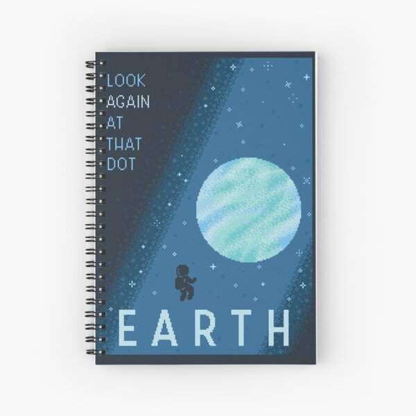 EARTH Space Tourism Travel Poster Spiral Notebook