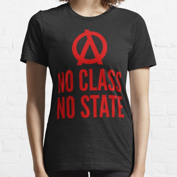 No Class No State Functional Programmer Red Text Design Essential T-Shirt