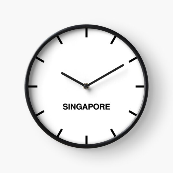 Singapore Time Zone Newsroom Wall Clock Clock