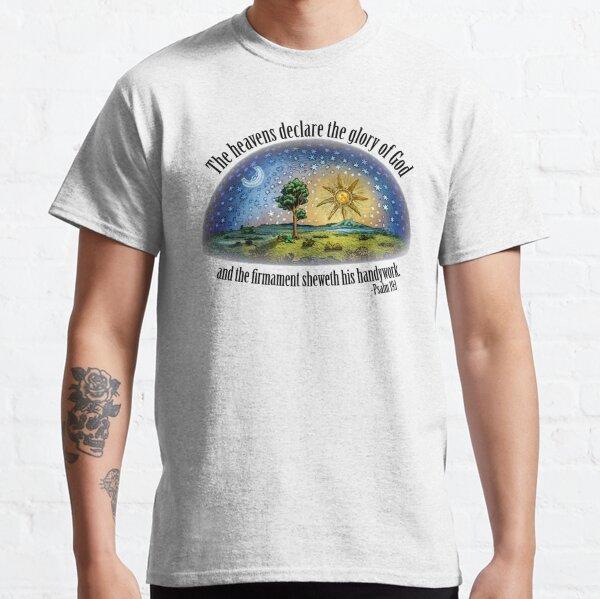 Tierra plana - Salmo 19: 1 (El Firmamento) Blanco Camiseta clásica