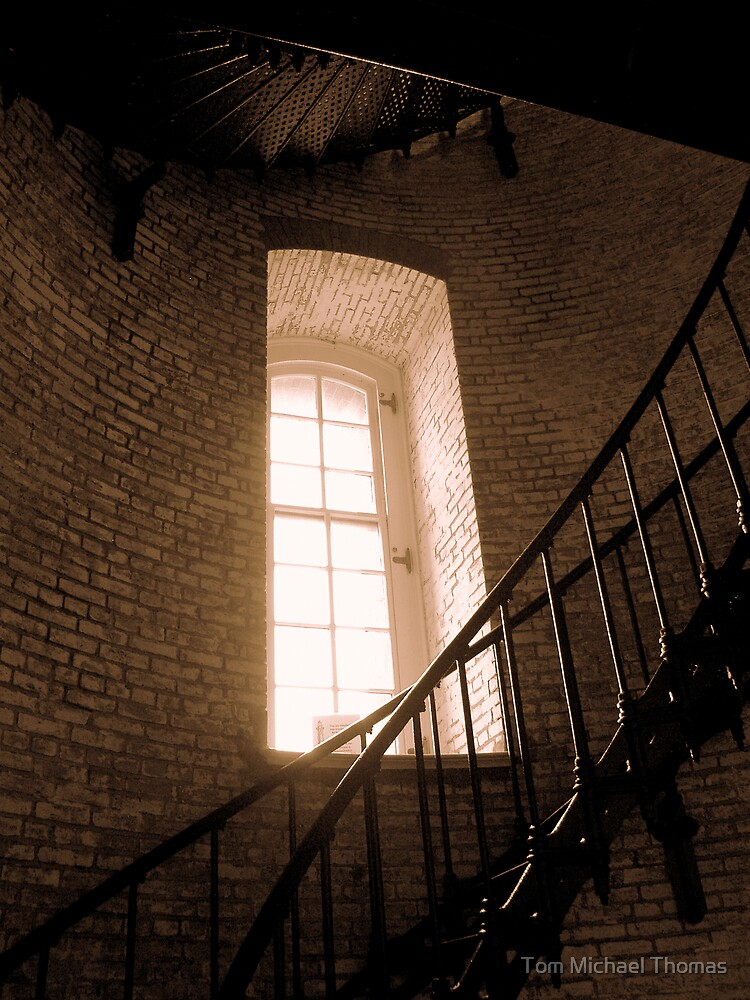 Inside Currituck Lighthouse by Tom Michael Thomas