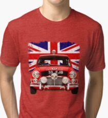 1964 Mini Cooper 'S' Monte Carlo Rally Winner Tri-blend T-Shirt